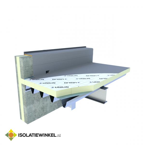 PIR plaat tweezijdig alu laminaat 1200x600x120mm Rd=5,45